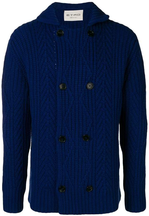 Etro double-breasted knitted cardigan