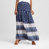 Alison Andrews Women's Printed Maxi Skirt With Tassels