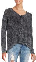 Vintage Havana Knit Lace-Up Sweater