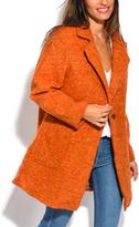 Orange Wool-Blend Coat