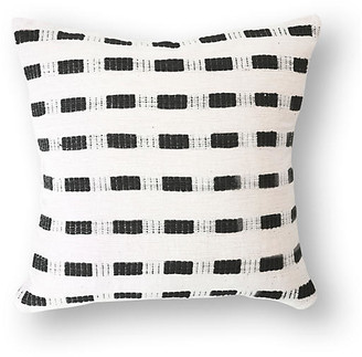 Bole Road Textiles Bertu 20x20 Cotton Pillow - Onyx/White