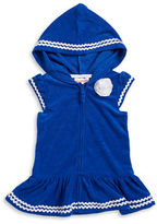 Flapdoodles Baby Girls Zip-Up Hooded Cover-Up