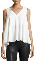 Catherine Malandrino Sleeveless Swing Blouse, White
