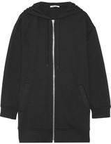 Alexander Wang French Cotton-blend Terry Hooded Top - Black
