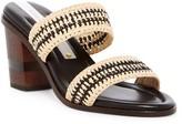 Matt Bernson Ceylon Raffia Block Heel Sandal