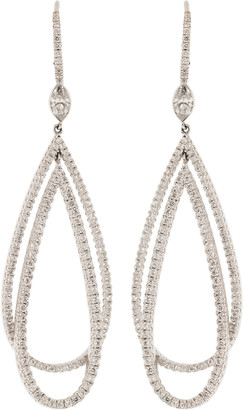 Kwiat Pave Diamond Double Drop Earrings
