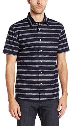 Jack Spade Men's Clift Ss Stripe Print Point Collar
