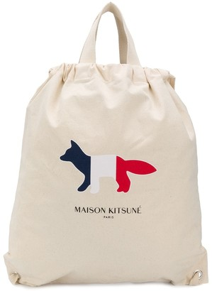 MAISON KITSUNÉ Tricolour Fox backpack