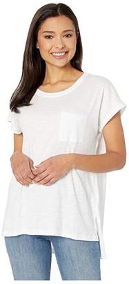 Liverpool Scoop Neck Short Sleeve Dolman (Navy Beats) Women's Blouse