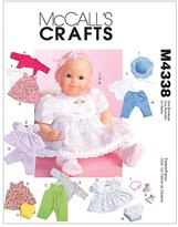 Mccall's M4338 Baby Doll Clothes, All Sizes