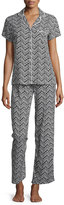 Splendid Scalloped Pattern Pajama Set, Sketchy Scallop