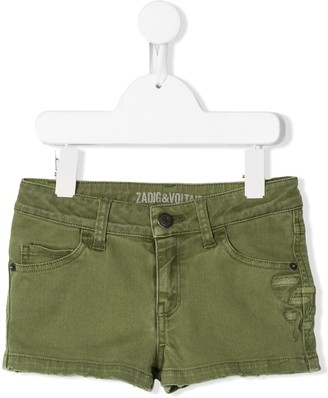 Zadig & Voltaire Kids Sienne distressed denim shorts