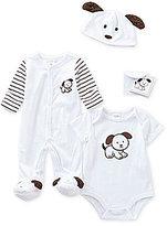 Starting Out Baby Boys Newborn-3 Months 3-Piece Puppy Layette Set