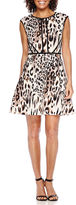 Studio 1 Animal Print Fit-and-Flare Dress - Petite