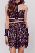 For Love & Lemons Black Mini Dress