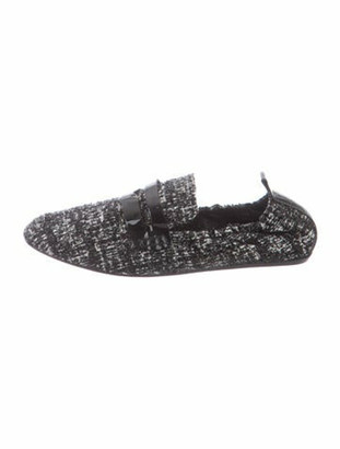 Lanvin Tweed Pattern Loafers Black