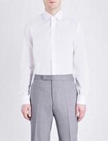 Duchamp Geometric tailored-fit cotton-jacquard shirt