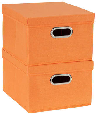 Household Essentials 2-Pc. Tangarine Storage Box Set