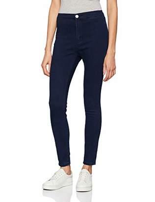 Lost Ink Women's High Waist Jegging Dark Denim Trousers,W26 L32, 8 UK (Manufacture Size: 36 EU)