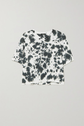 Bassike Motley Tie-dyed Organic Cotton-jersey T-shirt - Black