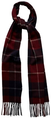 Eton Red Checked Wool Scarf