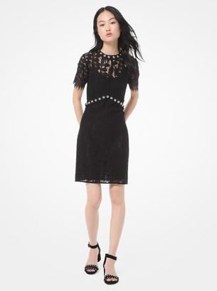 MICHAEL Michael Kors Embellished Corded Lace Dress