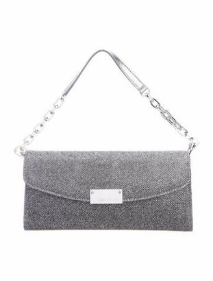 Jimmy Choo Glitter Evening Bag Silver