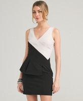 Love21 Colorblock Peplum Dress