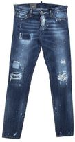 DSQUARED2 Ripped Destroy Slim Fit Denim Blue Jeans