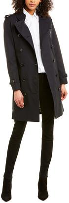 Burberry Kensington Medium-Length Heritage Trench Coat