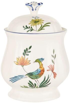 Gien Oiseaux De Paradis Sugar Bowl