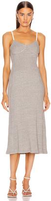 Jil Sander Jersey Dress in Light Pastel Grey | FWRD