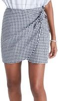 Madewell Women's Gingham Wrap Miniskirt
