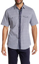 Smash Wear Gingham Floral Short Sleeve Woven Shirt