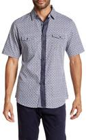 Smash Wear Gingham Floral Short Sleeve Woven Shirt