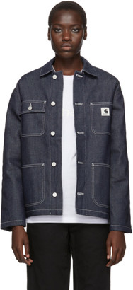 Carhartt Work In Progress Blue Denim Michigan Jacket