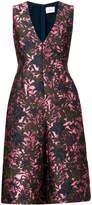 Erdem metallic floral print dress