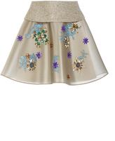 DELPOZO Embroidered Mini Skirt