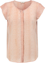 Joie Iva snake-print washed-silk top