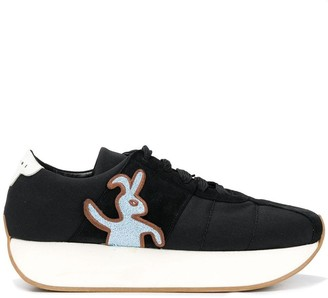Marni Wedge Rabbit Sneakers