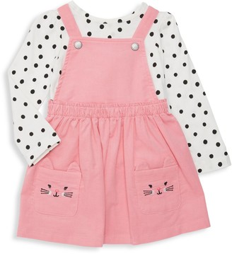 Little Me Baby Girl's Cotton Top & Pinafore Dress Set