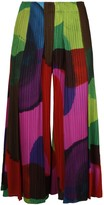 Pleats Please Issey Miyake Pleated Cropped Pants