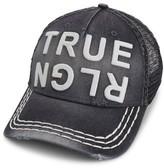 Men's True Religion Brand Jeans Denim Trucker Hat - Black