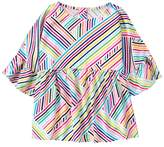 Crazy 8 Stripe Peplum Top
