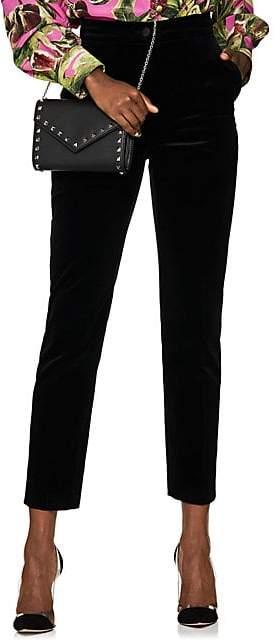 Dolce & Gabbana Women's Cotton Velvet Slim Trousers - Black