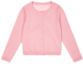 Jigsaw Girls' Woven Back Cardigan, Pink