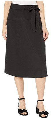 Tommy Bahama Solid Tambour Midi Skirt (Black) Women's Skirt