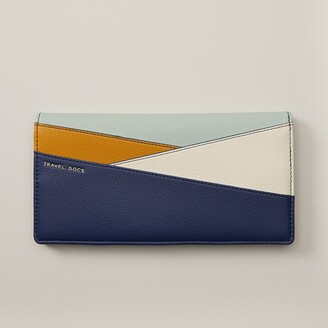 Indigo Love And Lore Colorblock Travel Wallet Navy Blue