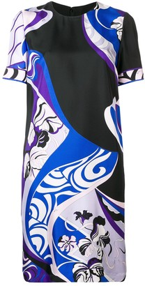 Emilio Pucci Hanami Print Silk Shift Dress