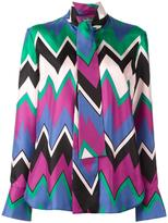 Salvatore Ferragamo chevron print blouse - women - Silk - 42
